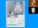 Candle Holder Tealight Owl Crystal