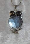 Equilibrium Necklace Diamonte Owl Light Blue **CLEARANCE COST PRICE ONLY**