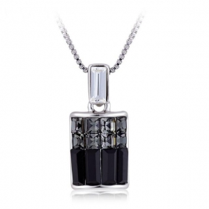Crystal Ice Necklace with Swarovski Elements Black **CLEARANCE COST PRICE ONLY**
