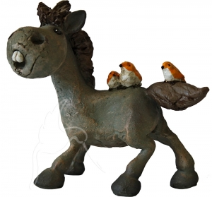 Bailey Horse with 3 Birds