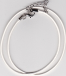 1.5mm White Imitation Leather Necklace Cord