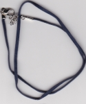 Flat Velvet Necklace Cord Dark Blue