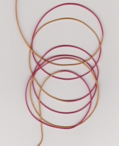 0.5mm Hot Pink/Yellow Round Leather Thonging