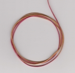 1mm Hot Pink/Yellow Round Leather Thonging