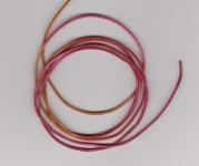 1.5mm Hot Pink/Yellow Round Leather Thonging
