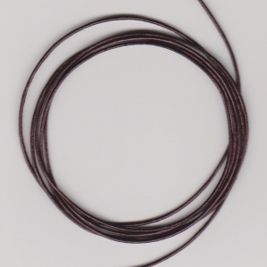 0.5mm Burgundy Metallic Round Leather Thonging