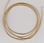 1mm Gold Metallic Round Leather Thonging