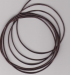 1mm Burgundy Metallic Round Leather Thonging