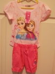 Frozen T-Shirt and Shorts Set Anna & Elsa Pink