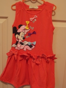 Minnie Mouse Sleeveless Dress Pink