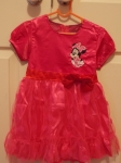 Minnie Mouse Dress with Zip Pinki