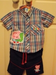 George Shirt & Shorts Set Blue