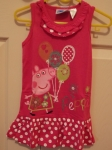 Peppa Pig Sleeveless Dress Pink