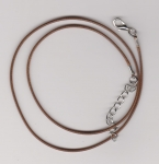 1.5mm Brown Round Imitation Leather Necklace Cord