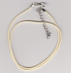1.5mm Cream Round Imitation Leather Necklace Cord