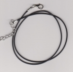 1.5mm Black Round Imitation Leather Necklace Cords