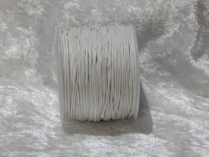 1mm White Waxed Cotton Roll