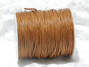 1.5mm Brown Waxed Cotton