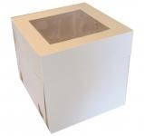 "Cake Box 10"" with window 25cm Tall"