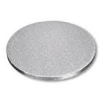 """Drum Cake Board Round Silver 10"""" x 12mm"""