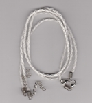 3mm White Braided Leather Necklace Cord