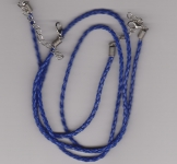 3mm Royal Blue Braided Leather Necklace Cord