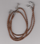 3mm Brown Braided Leather Necklace Cord
