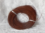 1mm Brown Round Leather Thonging