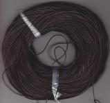 1mm Dark Brown Round Leather Thonging