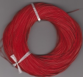 1mm Red Round Leather Thonging