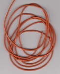 2mm Orange Round Leather Thonging