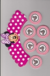 Cake Wraps & Toppers - Minnie Mouse 24pc