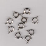 9mm Silver Plate Bolt Rings x 10
