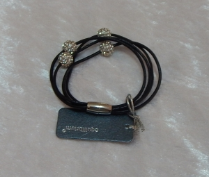 Equilibrium Leather Bracelet Shamballa Black **CLEARANCE COST PRICE ONLY**