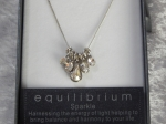 Equilibrium Necklace 5 Teardrops Crystal **CLEARANCE COST PRICE ONLY**