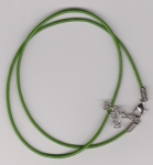 2mm Green Round Leather Necklace Cord