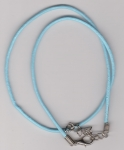 2mm Light Blue Round Leather Necklace Cord