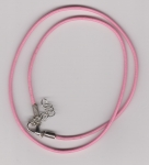 2mm Pink Round Leather Necklace Cord