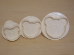 Set of 3 Bear Face Plunger Cutter
