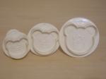 Set of 3 Bear Face Plunger Cutter