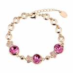 Crystal Ice Bracelet with Swarovski Elements Rose Fish 20022R **CLEARANCE COST PRICE ONLY**