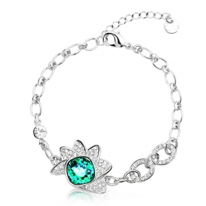 Crystal Ice Bracelet with Swarovski Elements Green 20033 **CLEARANCE COST PRICE ONLY**
