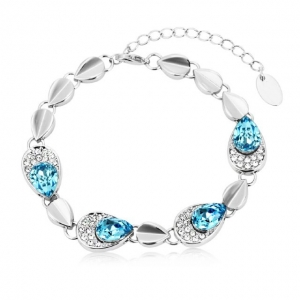 Crystal Ice Bracelet with Swarovski Elements Teardrop Blue 20035 **CLEARANCE COST PRICE ONLY**