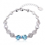 Crystal Ice Bracelet with Swarovski Elements Bow Blue 20018 **CLEARANCE COST PRICE ONLY**