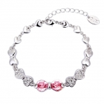 Crystal Ice Bracelet with Swarovski Elements Bow Rose 20018 **CLEARANCE COST PRICE ONLY**