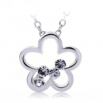Crystal Ice Necklace with Swarovski Elements Flower Silver 10001 **CLEARANCE COST PRICE ONLY**