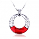 Crystal Ice Necklace with Swarovski Elements Circle Red 10061 **CLEARANCE COST PRICE ONLY**