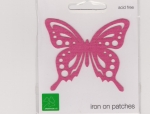 Iron On Patch Butterfly Pink