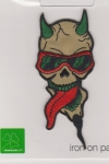 Iron On Patch Skull with Sunglasses