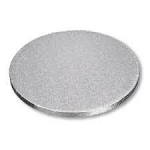 Masonite Cake Board Round Silver 6